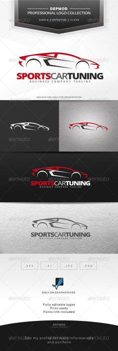 Sports Car Tuning  - Logo Design Template Vector #logotype Download it here: http://graphicriver.net/item/sports-car-tuning-logo/7033866?s_rank=323?ref=nexion