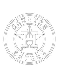 Medium Houston Astros Logo Cut