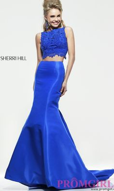 Prom Dresses, Plus Size Dresses, Prom Shoes -PromGirl   : Floor Length Two Piece Sherri Hill Dress