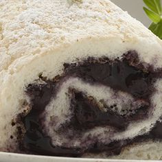 Blueberry Angel Food Cake Rolls: These Blueberry Cake Rolls will look so attractive displayed on your favorite platter, guests may hesitate to disturb them. Yet you won't want to resist their delightful taste.