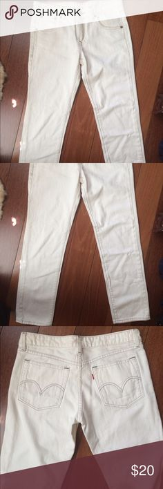 Levi's Straight Leg White Jeans Size 29 Great condition, straight leg, size 29. Levis Jeans Straight Leg