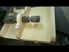 Drill Thickness sander - YouTube