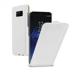 TETDED Premium Leather Case for Samsung Galaxy S8 G950 G950U G950U1 G950W -- TroyesB (LC: White)