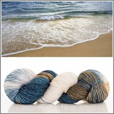"""Sand and Surf"" Resilient Sock Yarn (Expression Fiber Arts) Yarn Thread, Yarn Stash, Crochet Yarn, Knitting Yarn, Summer Knitting, Expression Fiber Arts, Yarn Inspiration, Fibres, Sock Yarn"