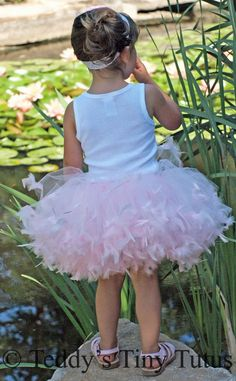 Pink or White Feather Petti Tutu for Baby by PansyPieBoutique, $44.99