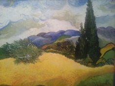 Interpretacja - van Gogh olej ,płótno 75 x 60