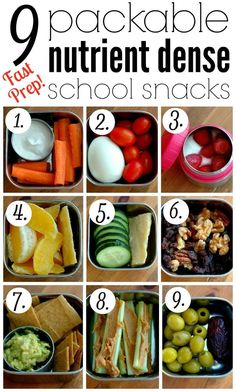 9 Packable Nutrient Dense School Snacks :: School snack time can be both nourishing and quick prep with these great packable snack ideas!