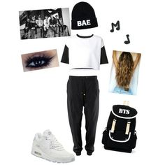 Bæ Outfit with BTS ❤ #Bae #HipHop #Outfit #Clothes #Girls #BTS #ARMY