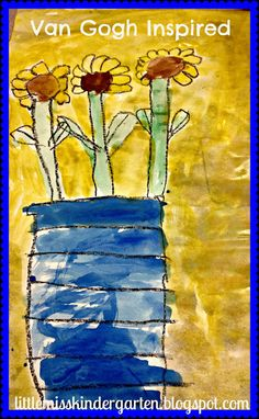 A Little Van Gogh! - Little Miss Kindergarten - Lessons from the Little Red Schoolhouse!