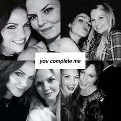 And this ship completes me Otp, Lesbian Love Quotes, Regina And Emma, Evil Queens, Swan Queen, Regina Mills, Colin O'donoghue, Jennifer Morrison, Celebrity Portraits
