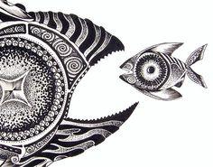 J. Vincent Scarpace, Artist.  Original Abstract Fish Art / Painting. For sale  (artist@ipaintfish.com).  Visit: www.ipaintfish.com