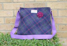 Harris Tweed bag crossbody bag Tweed purse by Enchantingcrafts