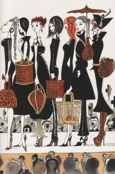 Ruben Toledo - Louis Vuitton - fashion illustration