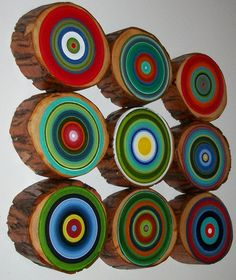 Modern Circle Art by Heather Montgomery