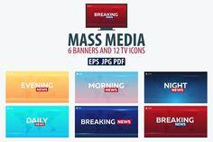 Mass Media Bundle by LeoEdition on @creativemarket