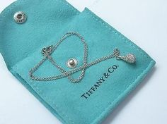 Tiffany & Co. Tiffany Co Platinum Elsa Peretti Teardrop Diamond Pendant .82ct