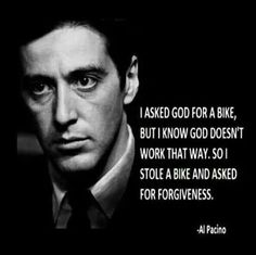 Enjoy the best of Al Pacino quotes. Movie Quotes by Al Pacino, American Actor. You wanna fuck with me? Scarface Quotes, Godfather Quotes, The Godfather, Goodfellas Quotes, Gangster Quotes, Badass Quotes, Al Pacino, Great Quotes, Quotes To Live By