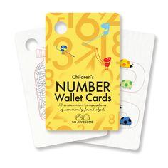 Children's Number Wallet Cards