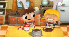 Receta de trufas de chocolate para niños, cocinar con niños, recetas infantiles. Telmo y Tula dibujos animados