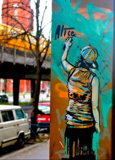 Graffiti artwork by Alice Pasquini #graffiti #street #art