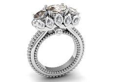 Victorian Style Modern Wedding Engagement  Gift 14k White