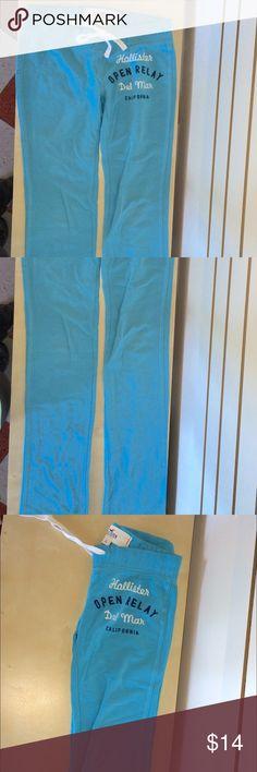 EUC Gorgeous blue yoga pants /sweatpants Full length dark turquoise aqua blue low rise loans workout pants Hollister Pants Track Pants & Joggers