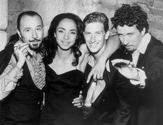 Sade and her band left to right (Paul Spencer Denman, Sade Adu, Andrew Hale and Stuart Matthewman)