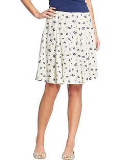 Women's Printed A-Line Skirts | Old Navy - I just bought this and love it. Light and airy.   $24.95