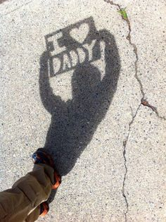 A KinderCare Kindergarten class worked with their teacher to create the perfect shadow for Father's Day. #FathersDay #photo #preschool #kindergarten
