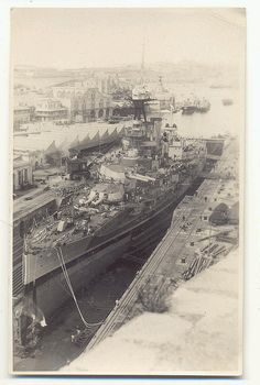 Iron Duke in Drydock at Malta, 1924 HMS Iron Duke in Drydock at Malta, 1924 Uk Navy, Royal Navy, Gran Tour, Malta History, Joining The Navy, Underwater Pictures, Malta Island, Naval History, War Photography