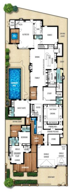 Heritage two storey home design (ground floor) by Boyd Design Perth