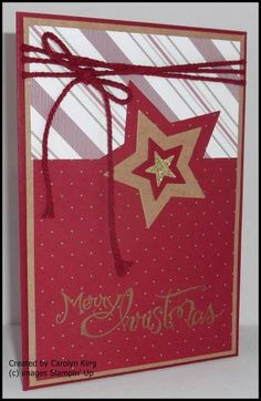 It is Christmas time at Just Add Ink this week using this great inspirational picture. I used the new Merry Moments DSP on my card al. Christmas In July, Christmas Cards, Mom Cards, Stampin Up Cards, I Card, Birthday Cards, Merry, In This Moment, Holiday Decor