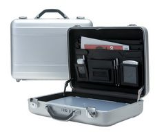 Attache Briefcase for men in Black by TZ Case International Hard-Sided Toll Case