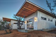 A group of longtime friends in Austin have constructed a tiny home compound just outside of the city so as a getaway/vacation homestead.