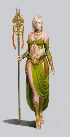 f Cleric Med Armor Staff Temple urban City lg Fantasy Warrior, Fantasy Rpg, Medieval Fantasy, Fantasy Artwork, Dark Fantasy, Female Character Concept, Fantasy Character Design, Character Inspiration, Character Art