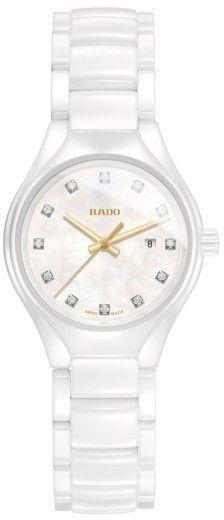 Rado Women's True Diamond Marker Ceramic Bracelet Watch, 30Mm