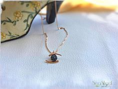 Rose Gold evil eye charm original charm necklace design