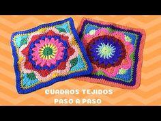 Crochet Cord, Treble Crochet Stitch, Crochet Mandala, Basic Crochet Stitches, Crochet Squares, Crochet Basics, Crochet Granny, Granny Squares, Crochet Basket Pattern
