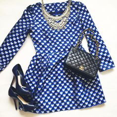 dresses, cute dresses, blue dresses, how to style my dress, chanel, chanel bag, cute outfits, birthday dress, how to style a blue dress
