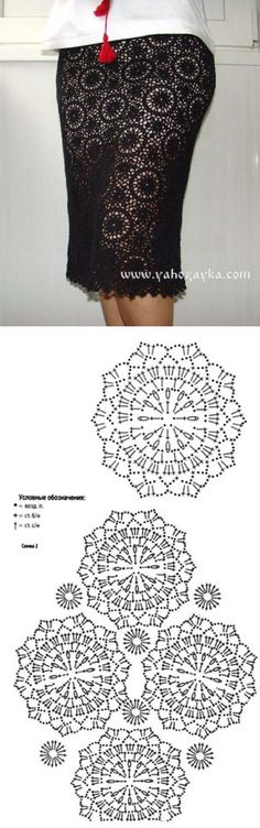 Ажурная юбка крючком схемы. Связать юбку крючком из мотивов   Я Хозяйка