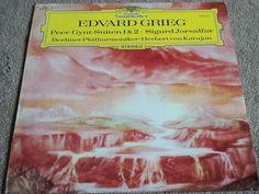 "Grieg / Peer Gynt / Berlin Philharmonic / Herbert von Karajan / 12"" Vinyl Record / DG 2530 243 #Classical #Album"