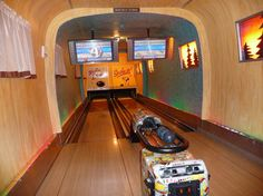 Caravan/Trailer converted to a bowling alley!
