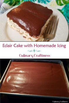 No-Bake Eclair Cake with Homemade Chocolate Icing | Culinary Craftiness