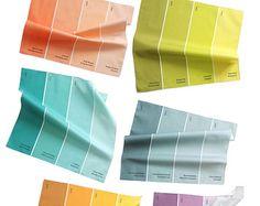 Napkins - Paint Chip Napkins - Set of 6 Summer Rainbow Colors - Etsy