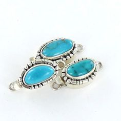 MORENCI TURQUOISE CLASP STERLING SILVER FREE FORM from New World Gems