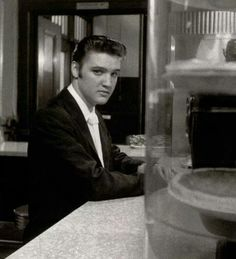 {*Elvis Here to dine with Barbara Gray at the 'Jefferson' hotel lunch counter on June 30th,1956*}