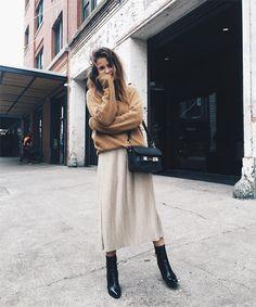 27 модных осенних образов с юбкой миди | Femmie