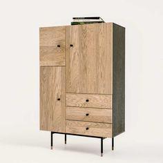 Buffet haut moderne couleur bois foncé MALLORCA 2 | Buffet-haut ... | {Esszimmerschrank design 35}