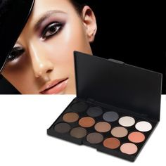 Professional 15 Colors Matte Shimmer Eyeshadow Palette Makeup Cosmetic #weddingmakeup