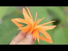 How To Make Cucumber Flower Carving Garnish - Art In Cucumber Flower Carving - YouTube